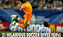 21 Hilarious Soccer Dives (GIFs)