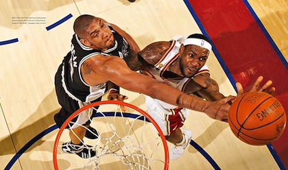 tim duncan and lebron james 2007 nba finals