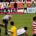 usa brazil pitch invader