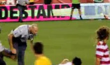 Police Officer Destroys Field Intruder During USA-Brazil Friendly (Video)