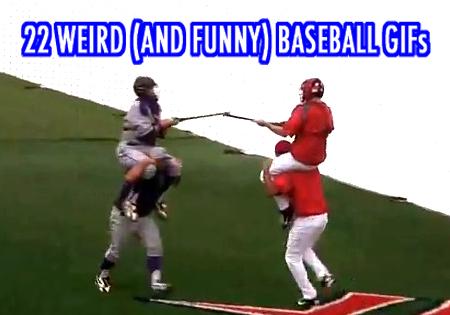 weird funny baseball gifs