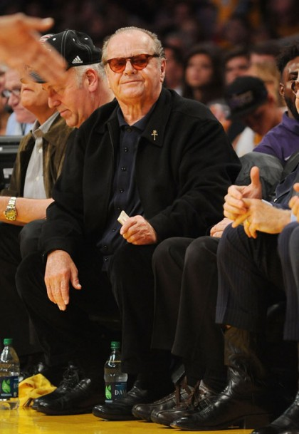 #14 jack nicholson at lakers playoff game
