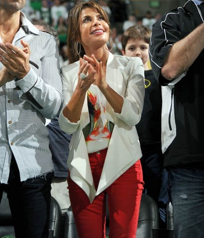 #17 paula-abdul at boston celtics playoff game