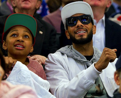swizz beats and son rangers capitals game 2 madison square garden