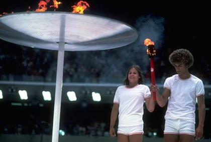 1976 olympic torch relay cauldron lighting