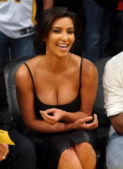 kim kardashian Celebrities At The Lakers Game