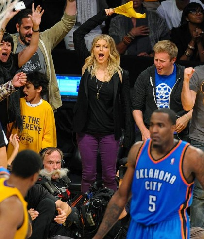 #20 fergie at lakers playoff game