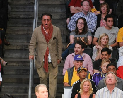 #23 andy garcia at lakers playoff game