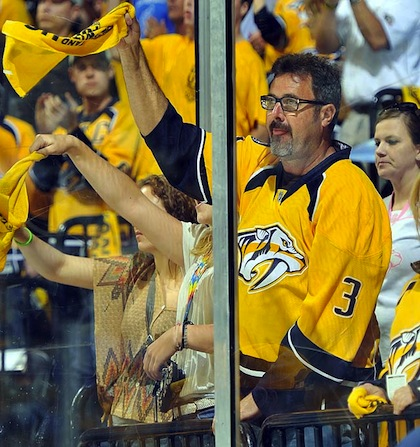 vince gill at predators playoff game