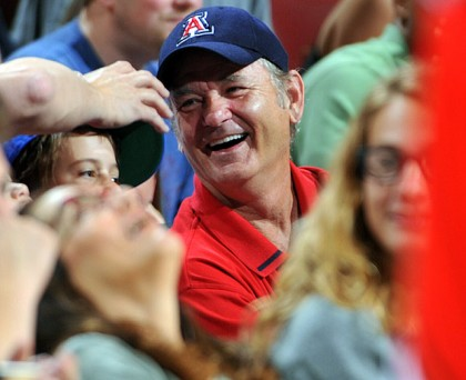 #4 bill murray at bulls playoff game in philadelphia