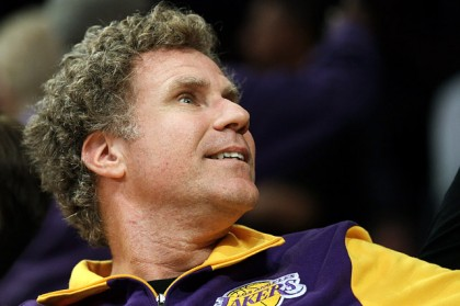 #5 will ferrell at lakers playoff game