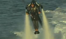 Guy Uses Jet Pack To Fly Around McCovey Cove During Matt Cain's Perfect Game (Videos)