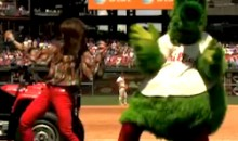 Paula Abdul Gets Down with the Phillie Phanatic (Video and GIF)