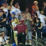 angry female yankees fan ejected from citi field