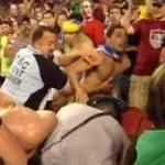 brazil fans fight cops