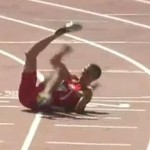 Georgi Kirilov Georgiev bulgarian sprinter broken leg