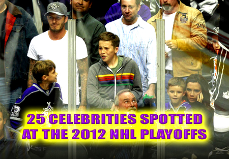 celebrities at the 2012 nhl playoffs