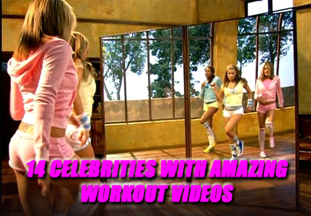 celebrity workout videos