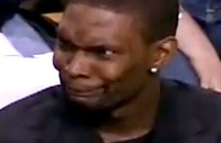 Chris Bosh Was Making Some Strange Faces During Last Night's Miami-Boston Game (Video)