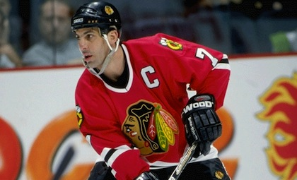 chris chelios blackhawks captain