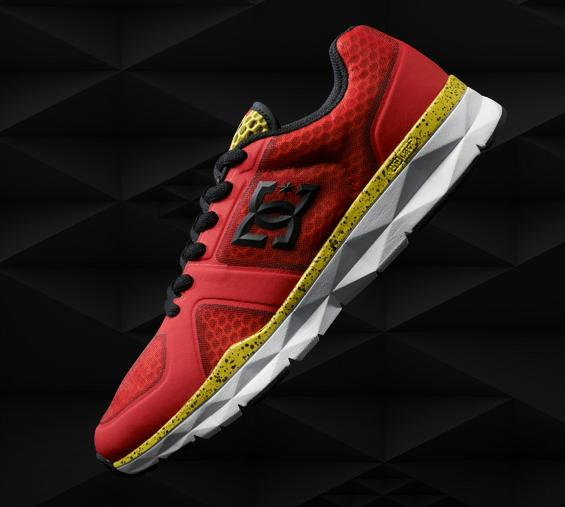 dc unilite trainer red white and yellow