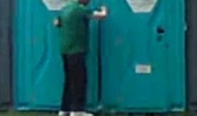 Drunk Irish Fan Cheered On As He Struggles To Find The Porta-Potty At Euro 2012 (Video)