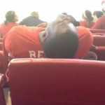 drunk reds fan passed out