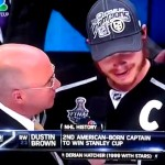 dustin brown drops f-bomb on nbc