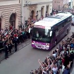 england arrives for euro 2012