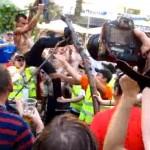 england fans break tree euro 2012