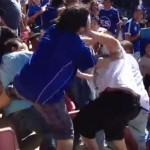 fan fight at soccer game
