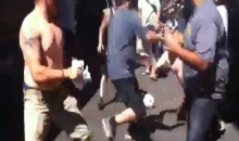 Crazy Fight Between Giants' And A's Fans (Video)