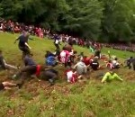 Hundreds Took Part in Illegal Cheese Rolling Competition in England on Sunday (Video)