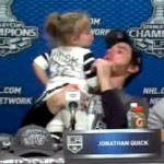 jonathan quick's daughter choking at press conference