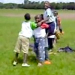 kenyan school kids reenact buckner play