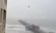 Kite Surfer Jumps Pier With Help From Tropical Storm Debby (Video)