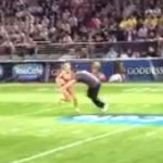 lfl halftime contest tackle the lingerie girl