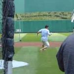 nail yakupov batting practice pnc park