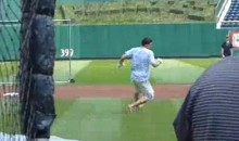 NHL Top Prospect Nail Yakupov Takes Batting Practice at PNC Park With No Shoes, Runs to Second Base (Video)