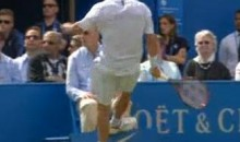 David Nalbandian Disqualified From Queen's Club Final After Kicking Sign at Line Judge (Video)