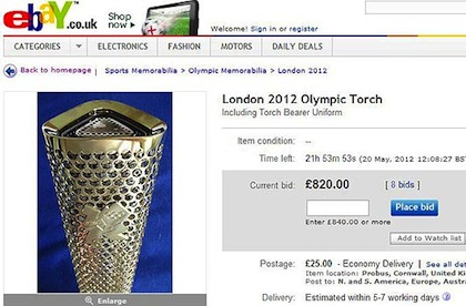 olympic torch for sale on ebay