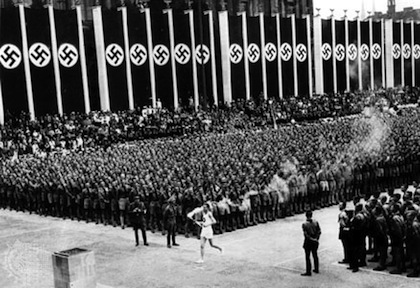 olympic torch relay invented by nazis