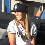 padres ball girl catch