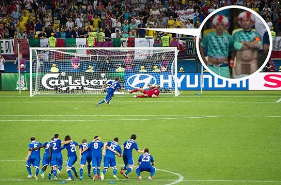 penalty kick distraction italy england euro 2012