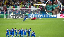 "English Soccer Fan Tries The Old ""Dong Distraction Trick"" At Euro, Comes Up Short (Pic)"