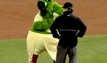 Watch the Philly Phanatic Dancing with an Umpire…in Drag (Video)