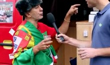 This Wacky Guy At Euro 2012 Is Portugal's #1 Fan (Video)
