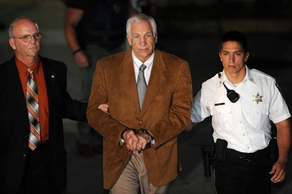 sandusky led off to jail