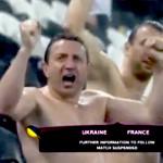 shirtless fans at postponed ukraine france euro 2012 match