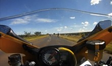 Guy Going 164 MPH On Motorbike Realizes There Is A Snake On Board (Video)